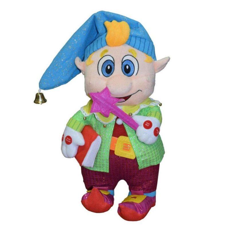 """Говорящая игрушка Гном Левушка и книга """"Любимые потешки для малышей от гнома Лёвушки"""""""