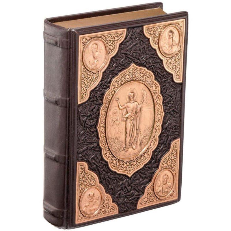 """Православная книга """"Библия"""" в кожаном переплете"""