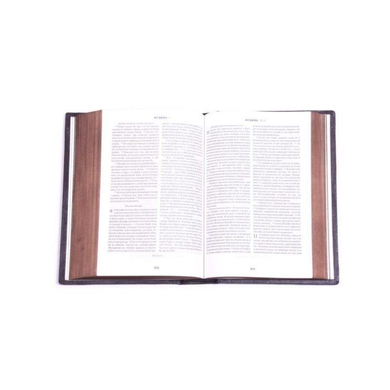 """Православная книга """"Библия"""" (лик) в кожаном переплете"""