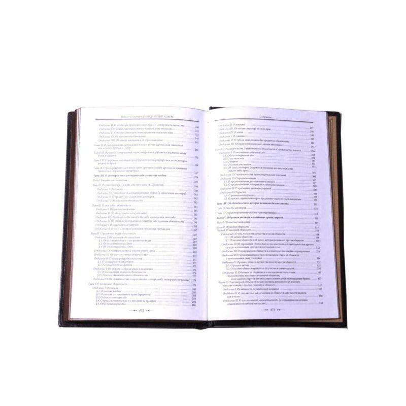 """Подарочное издание книги """"Гражданский кодекс. Наполеон I Бонапарт"""" в кожаном переплете"""