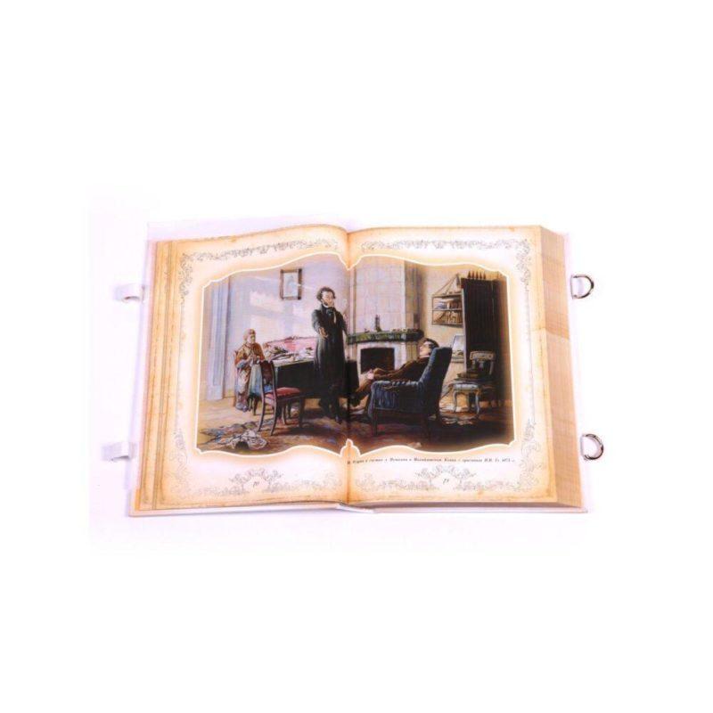 """Книга А.С. Пушкин """"Полное собрание сочинений"""" в кожаном переплете и коробе"""
